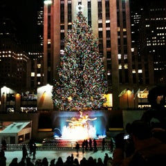 Photo taken at Rockefeller Center Christmas Tree by Gurjeet S. on 12/2/2012