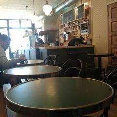 Photo taken at Cafe Madeline by Meg N. on 1/17/2013