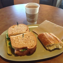 Photo taken at Saint Louis Bread Co. by Mike on 3/9/2014