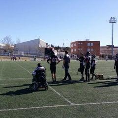 """Photo taken at Escuela Municipal de Rugby """"El Cantizal"""" by Alberto F. on 2/2/2014"""