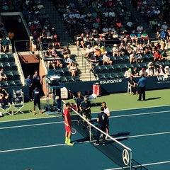 Photo taken at Grandstand - USTA Billie Jean King National Tennis Center by Danielle D. on 9/6/2015