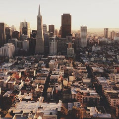Photo taken at Coit Tower by Johnny V. on 1/19/2013