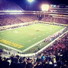 Photo taken at Sun Devil Stadium by Petey P. on 9/15/2013