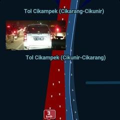 Photo taken at Jalan Tol Lingkar Luar Jakarta Seksi E1 (JORR E1) by Supianto on 5/7/2015
