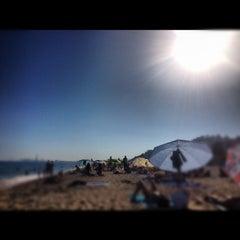 Photo taken at Platja del Pla de Montgat by Jorge N. on 8/16/2012