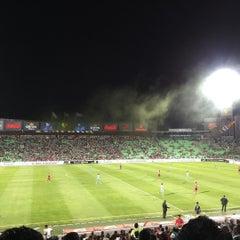 Photo taken at Territorio Santos Modelo Estadio by Jorge M. on 8/8/2015