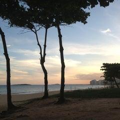 Photo taken at Praia de Itaparica by MariaClara M. on 2/11/2013