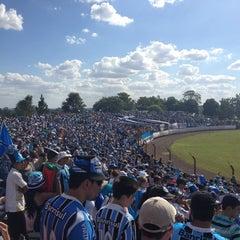 Photo taken at Estádio Vermelhão da Serra by Cristina T. on 3/31/2013