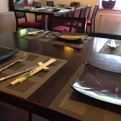 Photo taken at GINGER | ķīniešu virtuve, suši bārs by Liza D. on 7/1/2014