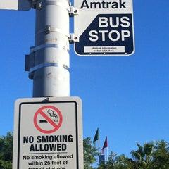 Photo taken at Solana Beach Amtrak Bus Stop by Steven C. on 9/6/2013