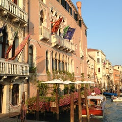 Photo taken at Ca' Sagredo Hotel Venice by Carlo V. on 7/15/2013