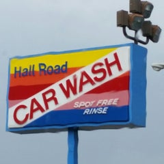 Photo taken at Hall Road Car Wash by Go T. on 12/4/2014
