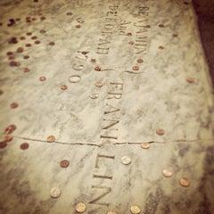 Photo taken at Benjamin Franklin's Grave by James G. on 6/22/2013