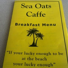 Photo taken at Sea Oats Cafe by Rebecca P. on 4/5/2013