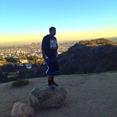 Photo taken at Fat Girl Hill at Runyon Canyon by Rajesh K. on 12/24/2013