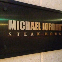 Photo taken at Michael Jordan's Steak House Chicago by Ricardo J. on 6/7/2013