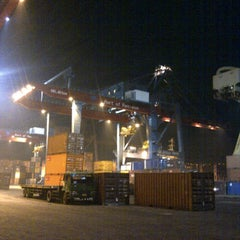 Photo taken at Terminal Peti Kemas Pelabuhan Pontianak by demi s. on 8/21/2013