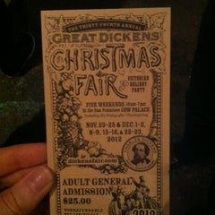 Photo taken at The Great Dickens Christmas Fair by Myra S. on 12/16/2012