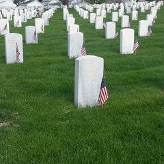 Photo taken at Wood National Cemetery by Sara M. on 5/26/2014