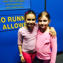 Photo taken at Bounce Trampoline Sports by Candace J. on 4/1/2015