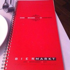 Photo taken at Bier Markt Esplanade by Peter T. on 11/15/2012