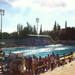 Photo taken at Nicosia Munincipal Swimming Pool by Ismail Y. on 10/27/2012