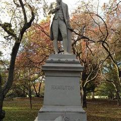 Photo taken at Alexander Hamilton Statue by Matthew on 11/3/2012