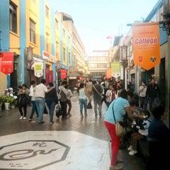 Photo taken at Calle Capón (Barrio Chino) by Memo E. on 10/4/2015