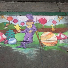 Photo taken at Chocolate and Chalk Art Fair by Samar P. on 6/9/2014