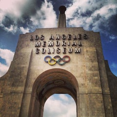 Photo taken at Los Angeles Memorial Coliseum by John D. on 3/4/2013