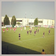 Photo taken at Campi Petrarca Rugby by Enrico T. on 5/4/2013
