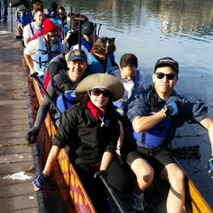 Photo taken at Austin Coolers Dragon Boat Warehouse by Steve D. on 1/17/2015