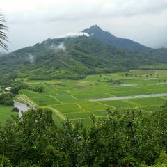 Photo taken at Hanalei Valley Lookout by Steve D. on 7/22/2015