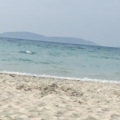 Photo taken at Ilıca Plajı by Betül Deniz Ö. on 5/22/2015