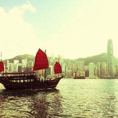 Photo taken at Victoria Harbour 維多利亞港 by Dan C. on 7/3/2013