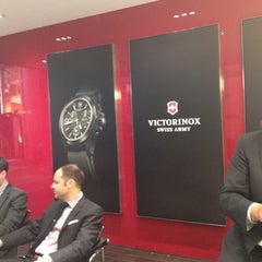 Photo taken at Victorinox Swiss Army @Baselworld 2013 by Sand V. on 3/8/2012