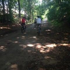 Photo taken at Minuteman Commuter Bikeway by Maribel C. on 7/18/2014