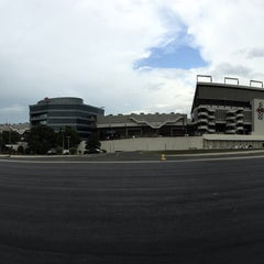 Photo taken at Charlotte Motor Speedway by Andrea C. on 6/20/2015