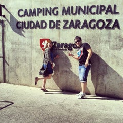Photo taken at Camping Ciudad de Zaragoza by Paula R. on 9/13/2013