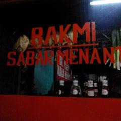 Photo taken at Bakmi Sabar Menanti by Eko N. on 12/30/2013