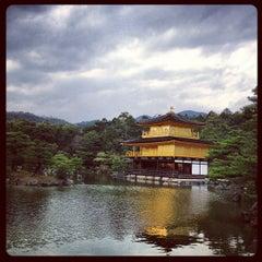 Photo taken at 北山 鹿苑寺 (金閣寺) (Kinkaku-Ji Temple) by 森山 健. on 4/9/2013