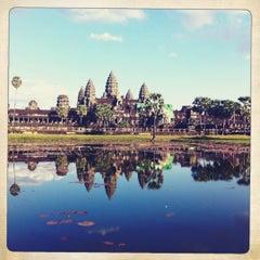 Photo taken at Angkor Wat Temple (អង្គរវត្ត) by Cristian S. on 12/28/2012