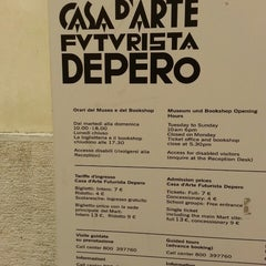 Photo taken at Casa d'Arte Futurista Fortunato Depero by nadia a. on 5/23/2014