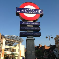 Photo taken at Uxbridge London Underground Station by Christine on 7/11/2013