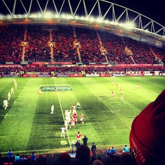Photo taken at Thomond Park by Stephen O. on 12/29/2012