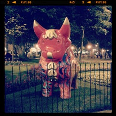 Photo taken at Parque Kennedy by Lorena D. on 10/19/2012