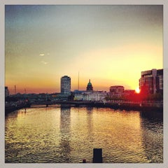 Photo taken at The River Liffey by Christian H. on 7/9/2013