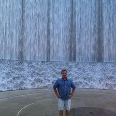 Photo taken at Gerald D. Hines Waterwall Park by Marcie O. on 7/26/2013