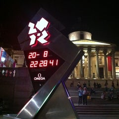 Photo taken at London 2012 OMEGA Countdown Clock by Dennis C. on 8/20/2012