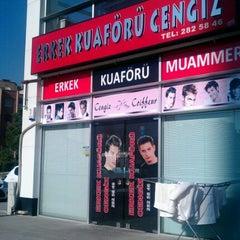 Photo taken at Erkek Kuaförü Cengiz by Mustafa T. on 7/16/2012